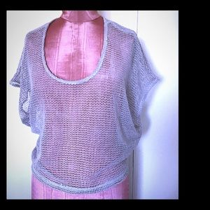 NWT Mesh Top in Mauve Size S